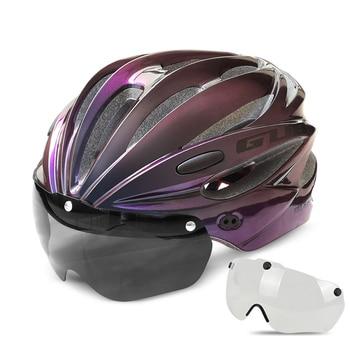 GUB K80 Cycling Helmet with Visor Magnetic Goggles Integrally-molded 58-62cm for Men Women MTB Road Bicycle  Bike Helmet 24