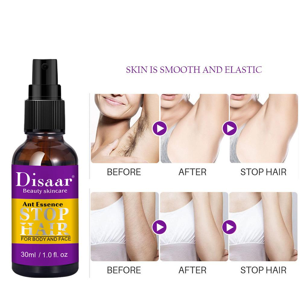 30ml Powerful Permanent Painless Hair Removal Spray Stop Hair Growth Inhibitor Shrink Pores Skin Smooth Repair Oil