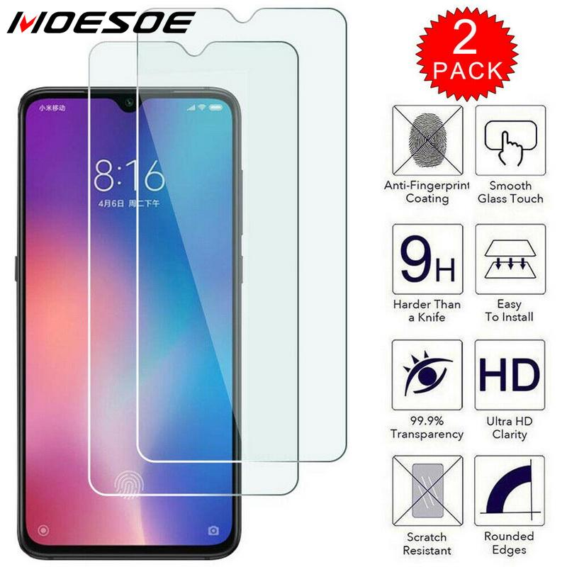 Tempered Glass For Xiaomi Redmi Note 7 8 8T 6 5 Pro 6A 7A 8A Mi Note 10 9 SE 9T A3 A2 Lite A1 Screen Protector Film Case Cover