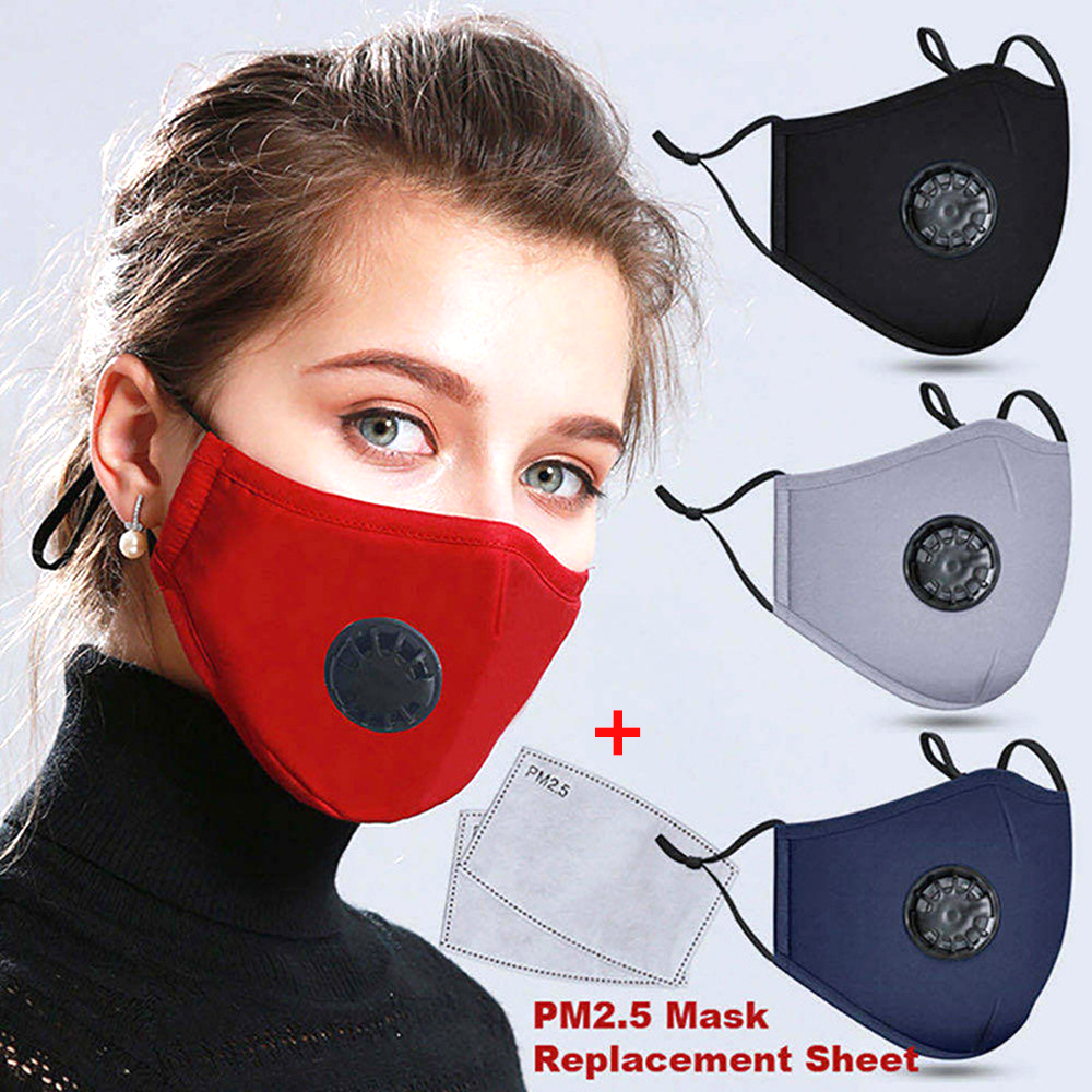 Anti Pollution PM2.5 Mouth Mask Dust Respirator Washable Masks Cotton Mouth Muffle Allergy/Asthma Cycling Filter Respirator