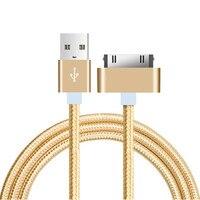 Cable USB de 1m para iPhone 4 s 4s 3GS iPad 3G tableta amortiguador Tech accesorio beige Rojo Negro compruebe Tartan tableta amortiguador iPod Nano itouch 30 Pin de carga rápida cargador de Cable USB adaptador de Cable de sincronización de datos