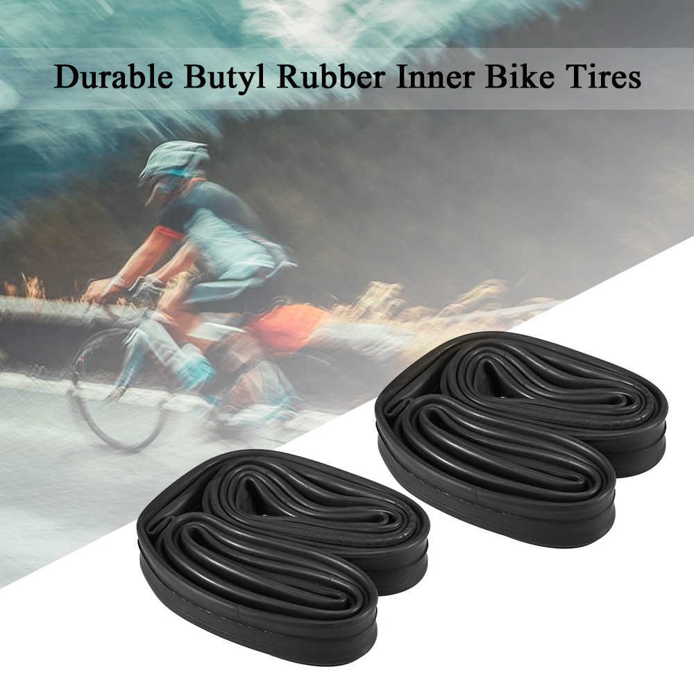 2 шт. велосипедные трубки бутил внутренняя шина для велосипеда дорожный велосипед Внутренняя шина 700c Schrader Presta клапан Сменные трубы 18 мм до 25 мм ширина