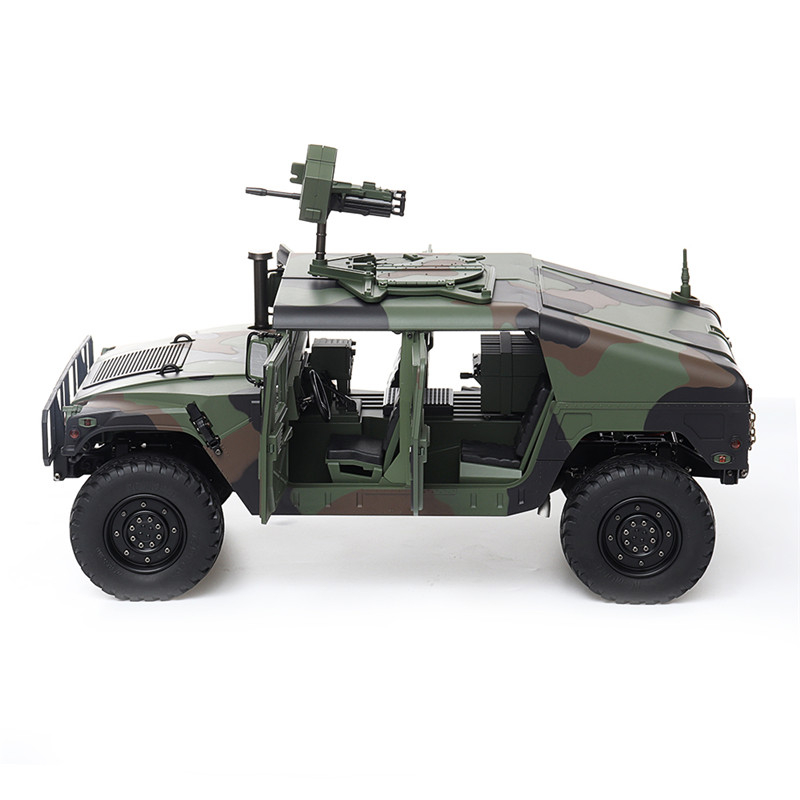 RC Car HG P408 30km/h 2.4G 16CH 4WD Functional 1/10  RC Control Car Military Vehicle Model Toy Carwithout Battery Charger