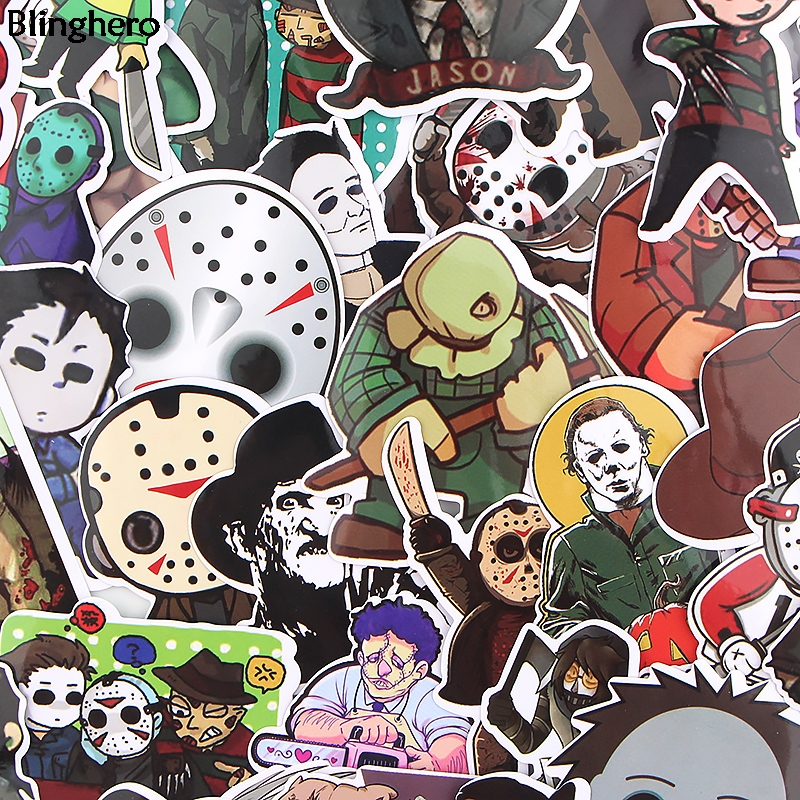 Blinghero Four Killers Stickers 33Pcs/set Horror Movie Stickers Phone Stickers Album Decals Stickers Collection Gifts BH0385