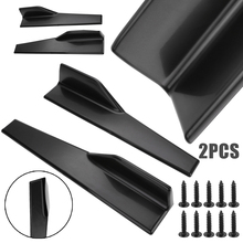 For Car Sedan New Pair 45cm Universal Side Skirt Extension Rocker Splitters Winglet Canard Diffuser Mayitr