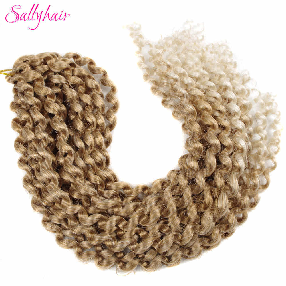 Sallyhair Crochet Braids Ombre Passion Twist Braiding Synthetic Hair Extensions Braid Long  Twists Bulk Hair Extension Blonde