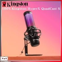 קינגסטון HyperX QuadCast S Professionnel RGB USB הקבל מיקרופון עבור מחשב PS4 Mac ו מחלוקת TeamSpeak YouTube XSplit OBS