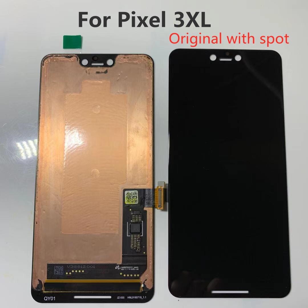 Оригинальный точечный экран для Google Pixel 3XL ЖК-дисплей сенсорный дигитайзер экран для Google Pixel 3 XL ЖК-экран Замена 3XL ЖК-дисплей