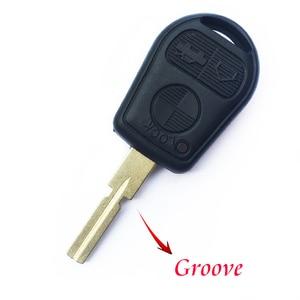 Image 3 - 3 przycisk obudowa pilota bez kluczyka dla BMW E39 E36 E31 E32 E38 wymiana inteligentny brelok Auto etui na klucze pokrywa Uncut Blade