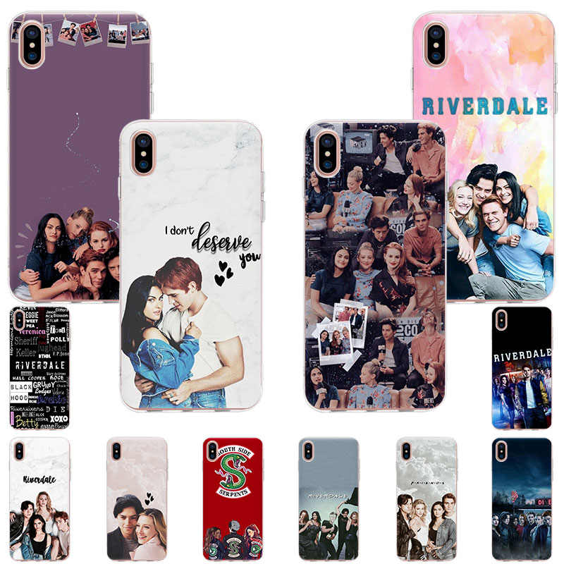 Soft Tpu Phone Case Voor Iphone 11 Pro X Xr Xs Max 7 8 6 6S Plus 5 5S Se Riverdale South Side Slangen Siliconen Cover Coque Capa