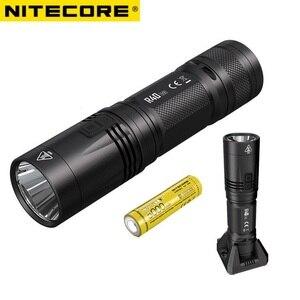 Светодиодный фонарик Nitecore R40 V2, 1200LMS, CREE, V6, Беспроводная зарядка, высокая мощность, с аккумулятором 21700, поиск на улице