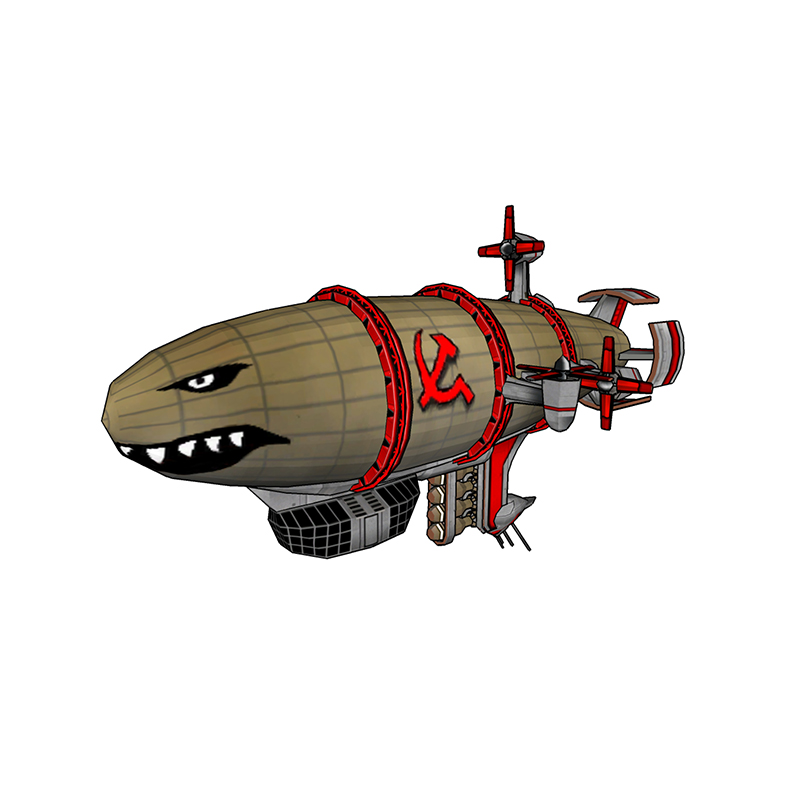 Command And Conquer Red Alert Kirov Airship 3D Stereo Paper Model DIY Hand-set Toys