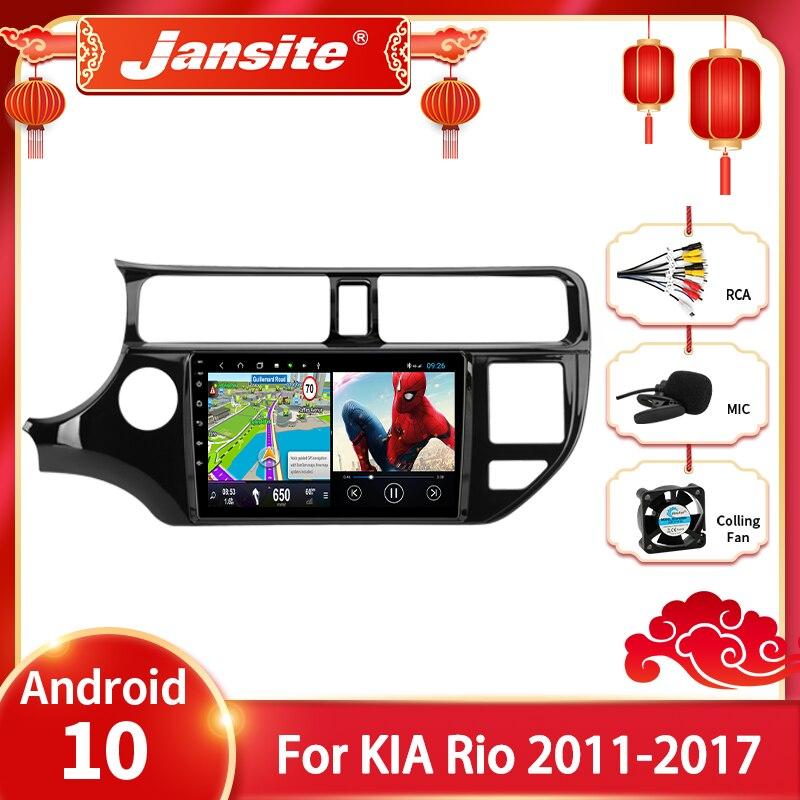 Jansite Android 10 Автомобиль Радио мультимедийный видеоплеер для KIA K3 РИО 2011-2017 2 din GPS Navigaion Разделение Экран стерео автомагнитолы