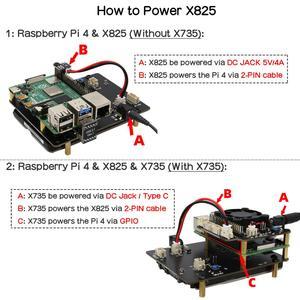 Image 5 - Raspberry Pi 4 SATA, Raspberry Pi 4 รุ่นB 2.5 นิ้วSATA HDD/SSD Shield,x825 V1.5 สำหรับRaspberry Pi 4B