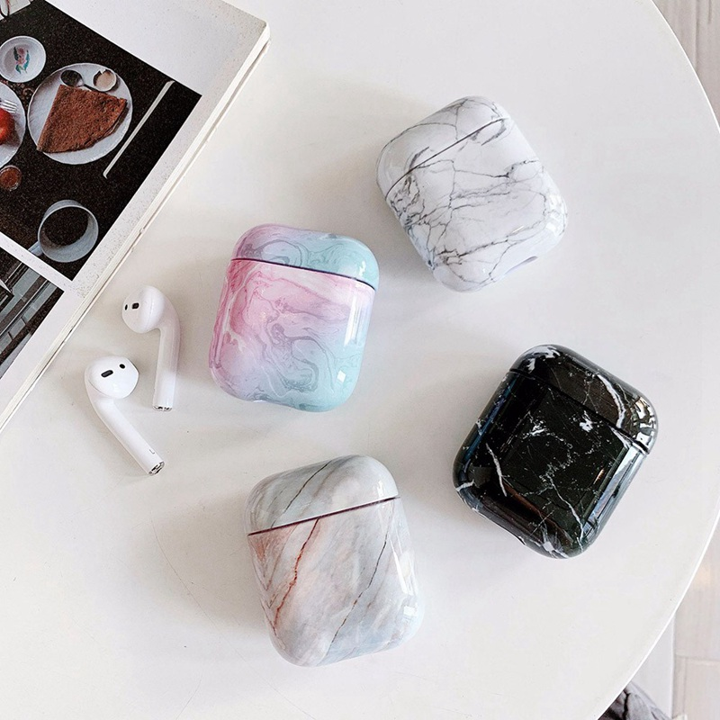 Marble Earphone Case For Airpods 1/2 Case Luxury Hard Headphone Case For Cover Accessories For Apple Airpods  Box
