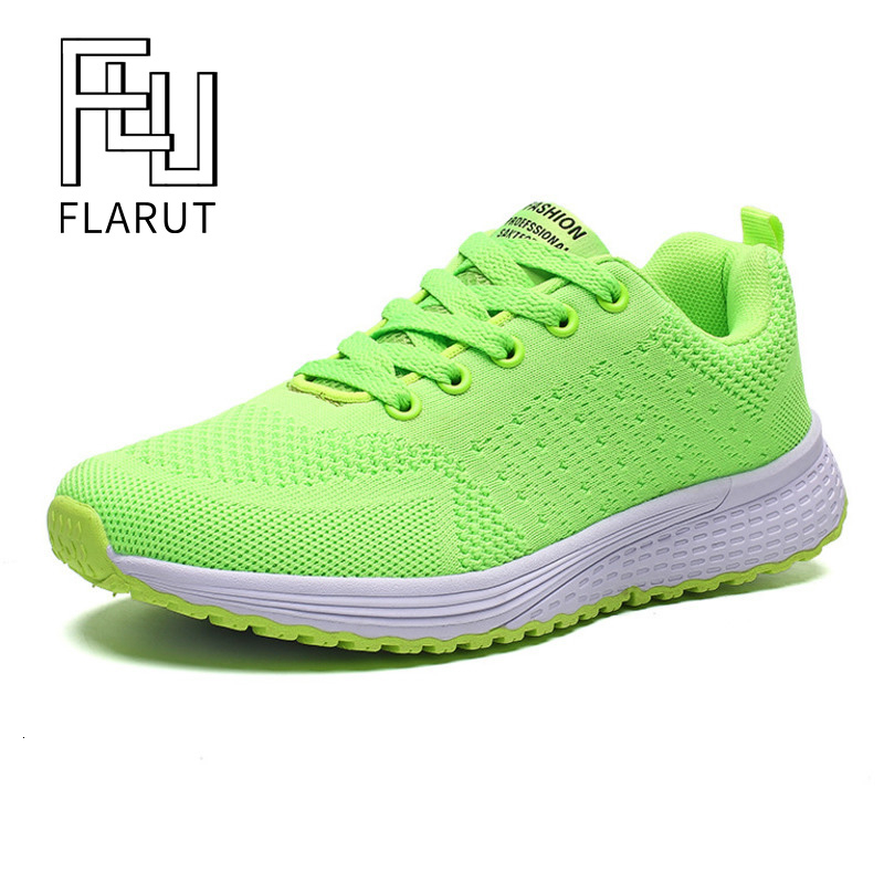 FLARUT Baskets Tennis Femme Lace-up Bona Shoes Tenis Gym Shoes Woman Trainers Girl Breathable Sneakers Candy Color Green Orange