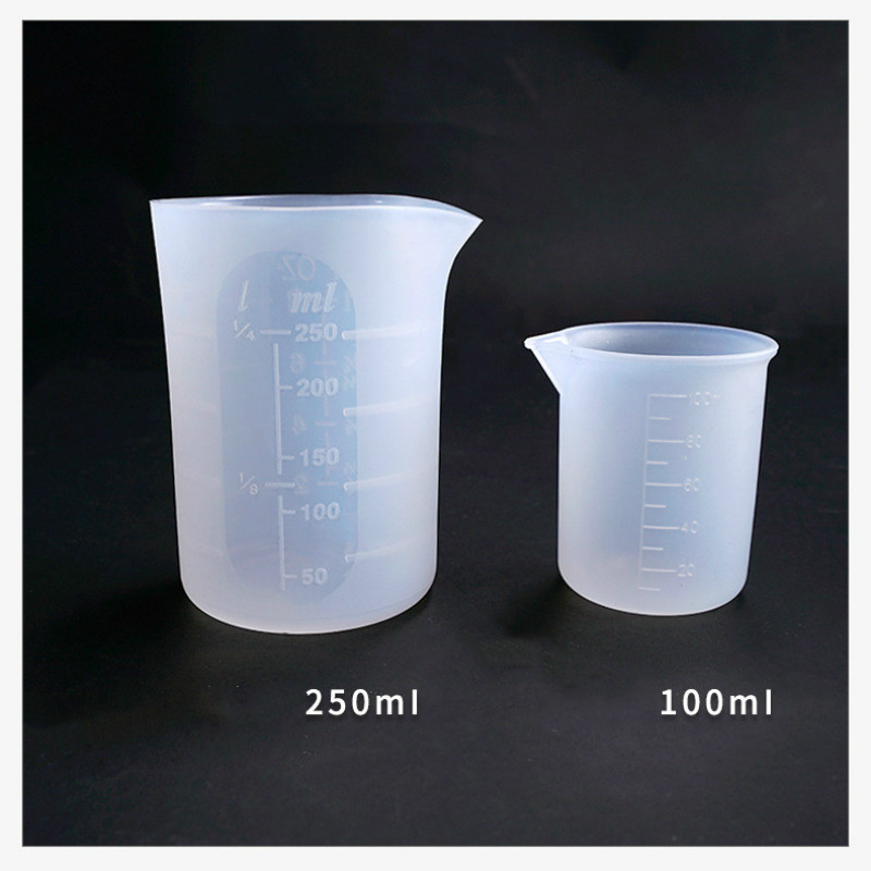 Silicone Measuring Cup Washable & Reusable Measure Cup 250ml Dosage Cup Epoxy Resin Mixing Cup Medicine Cup Resin Crafts
