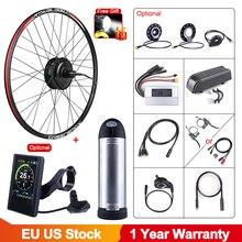 36v 250w bafang ebike sem escova cassete engrenagem do motor cubo traseiro kit de conversão bicicleta elétrica com 10ah bateria da bicicleta da movimentação da roda