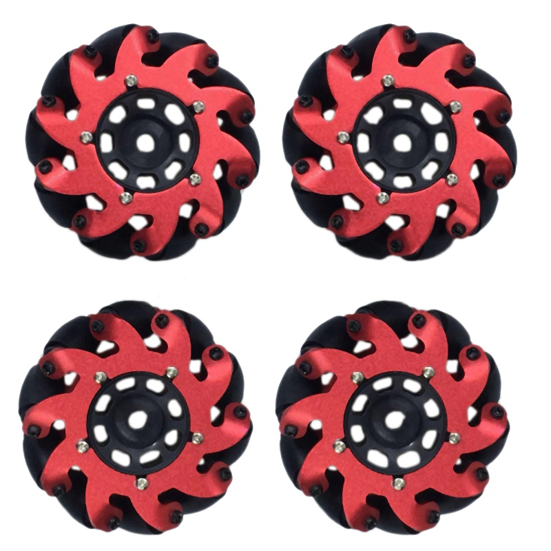 4Pcs Turbo Wing Drive Wheel Robot Kit Omnidirectional Wheels for Mecanum Aluminum Alloy with Long Service Life No Deformation in Parts Accessories from Toys Hobbies
