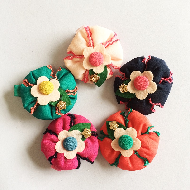 1 Pcs lot New Design Fashion Flower Hairpin Children Kids Baby Girls Hairclips Accessories Clip Leaves Barrettes Headwear in Hair Accessories from Mother Kids