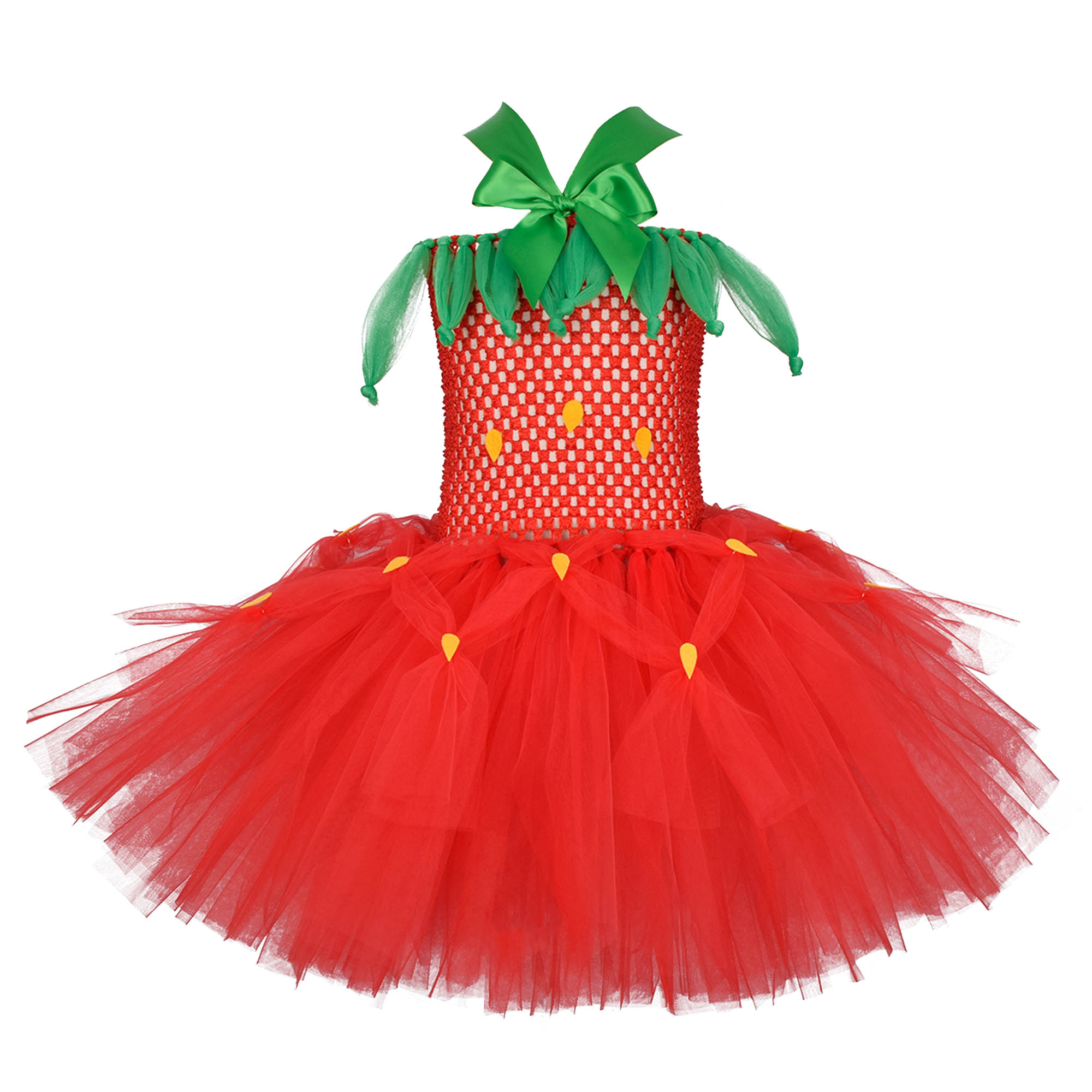 Red Strawberry Tutu Dress Baby Girls First Birthday Party Dresses Strawberry Theme Birthday Tutu Costume Kids Photography 0-12Y 1