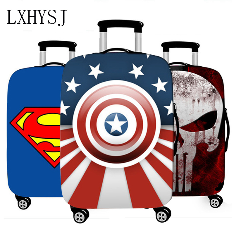 New Elasticity Luggage Cover Comics Super Hero Suitcase Protective Covers Thicken Suitcase Case 18-32 Inch Travel Accessories