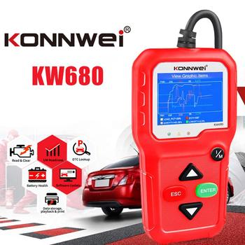 KONNWEI KW680 OBD2 Scanner Auto Code Reader OBD II Car Diagnostic Scanner konnwei
