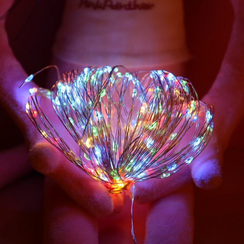 5M 10M LED Starry String Battery Lights Fairy Micro LED Transparent Copper Wire For Party Christmas Wedding Decorative Lighting