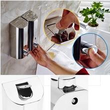 500mlX3 Hand Wall Mount Zeep Ontsmetten Vloeibare Zeep Dispensers Nozzle Badkamer Hand Zeepdispenser Pomp Rvs Dispenser