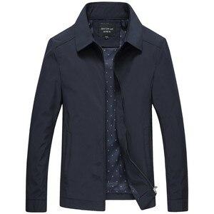 Image 1 - 봄 가을 망 패션 대표팀 재킷 품질 단색 검정 남성 윈드 브레이커 고품질 브랜드 남성 의류 크기 M 3XL