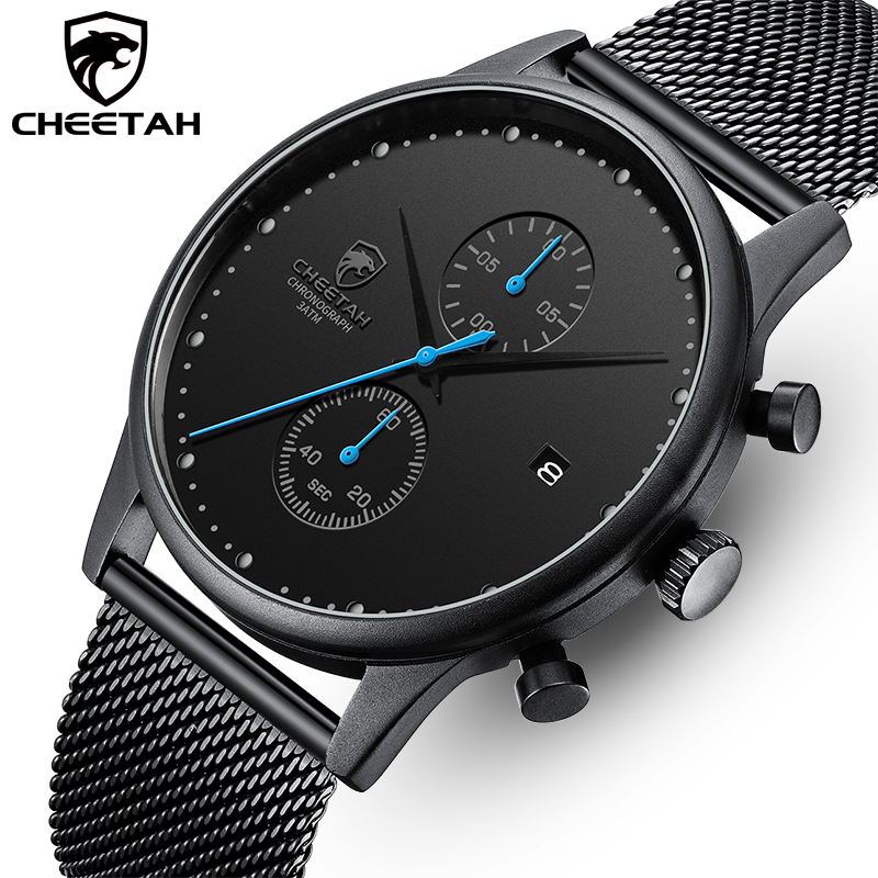 New Item CHEETAH Luxury Men Watches Waterproof Simple Sport Male Clock Fashion Men's Quartz Wrist Watch Relogio Masculino