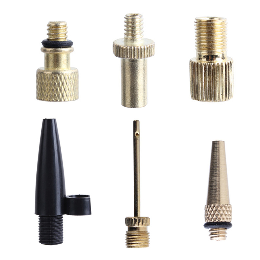 Bicycle Airbed V1Z6 Pump Adaptor Set 7Pcs Needle Valve Connector Foot Ball Tyre