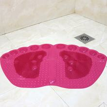 PVC Bathroom Mat Toilet Mats Shower Bathroom Carpet Suction Anti Slip Sucker Kitchen Bathroom Carpet Set Bath Mat Decoration(China)
