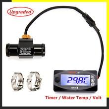 Koso voltímetro e temporizador para motocicleta, para yamxha nmax xmax tmax mini3 display digital led, quadrado, temperatura da água quad