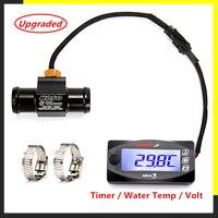 Koso voltímetro e temporizador para motocicleta  para yamxha nmax xmax tmax mini3 display digital led  quadrado  temperatura da água quad