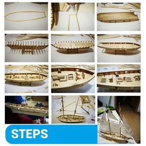 1 Set Montage Gebäude Kits Schiff Modell Segelboot Aus Holz Spielzeug Segeln Modell Montiert Holz Kit DIY Holz Handwerk