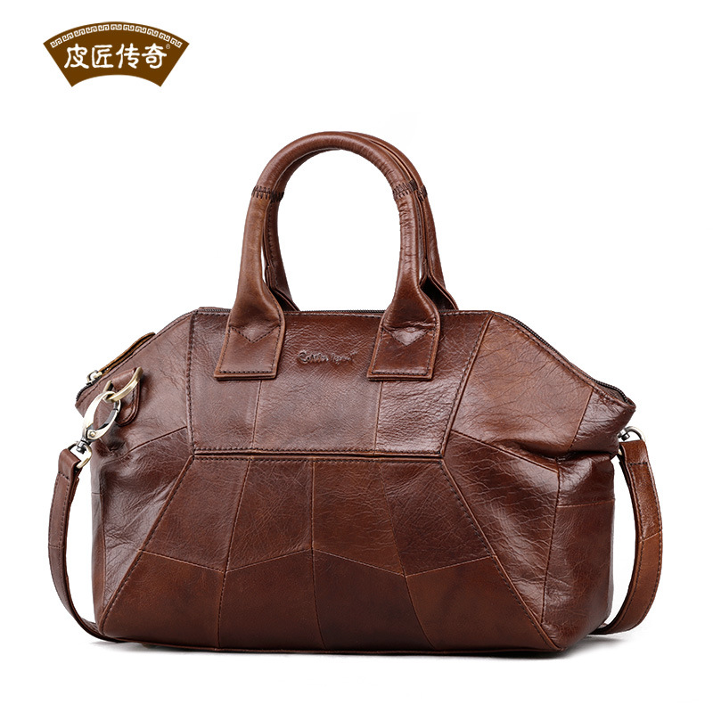 Brand Design Women's Genuine Leather Bag 2019 Real Cow Messenger Business Office Ladies Zipper Work Casual Handbags Fashion 0012