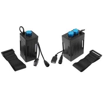Caja del Banco de la energía de la caja del paquete de la batería 6x18650 para la luz de seguridad en ciclismo del teléfono móvil caja de batería a prueba de agua