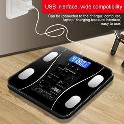 1Pc inteligentna waga do pomiaru tkanki tłuszczowej podłoga naukowa inteligentna elektroniczna LED waga cyfrowa waga pomiarowa Bluetooth APP Android lub IOS