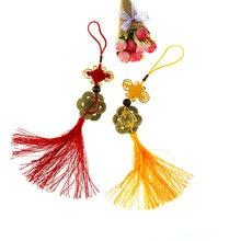 Обувь ручной работы; Плетение волос фен шуй богатство 7 монет бронзовая вешалка для процветания хорошая удача везучий обаяние китайский узе...