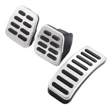 Stainless Car pedal Cover For Volkswagen VW Ibiza 6K 6L 6J Skoda Fabia Polo 9N 6R Bora Golf MK4 IV Clutch Gas Brake pedals Pads