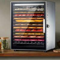 Secador de frutas de 12 capas de acero inoxidable verduras comerciales carne seca aperitivos para mascotas secador de aire máquina de frutas secas