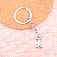 20pcs dog bone connector Keychain 22*10mm Pendants Car Key Chain Ring Holder Keyring Souvenir Jewelry Gift(China)