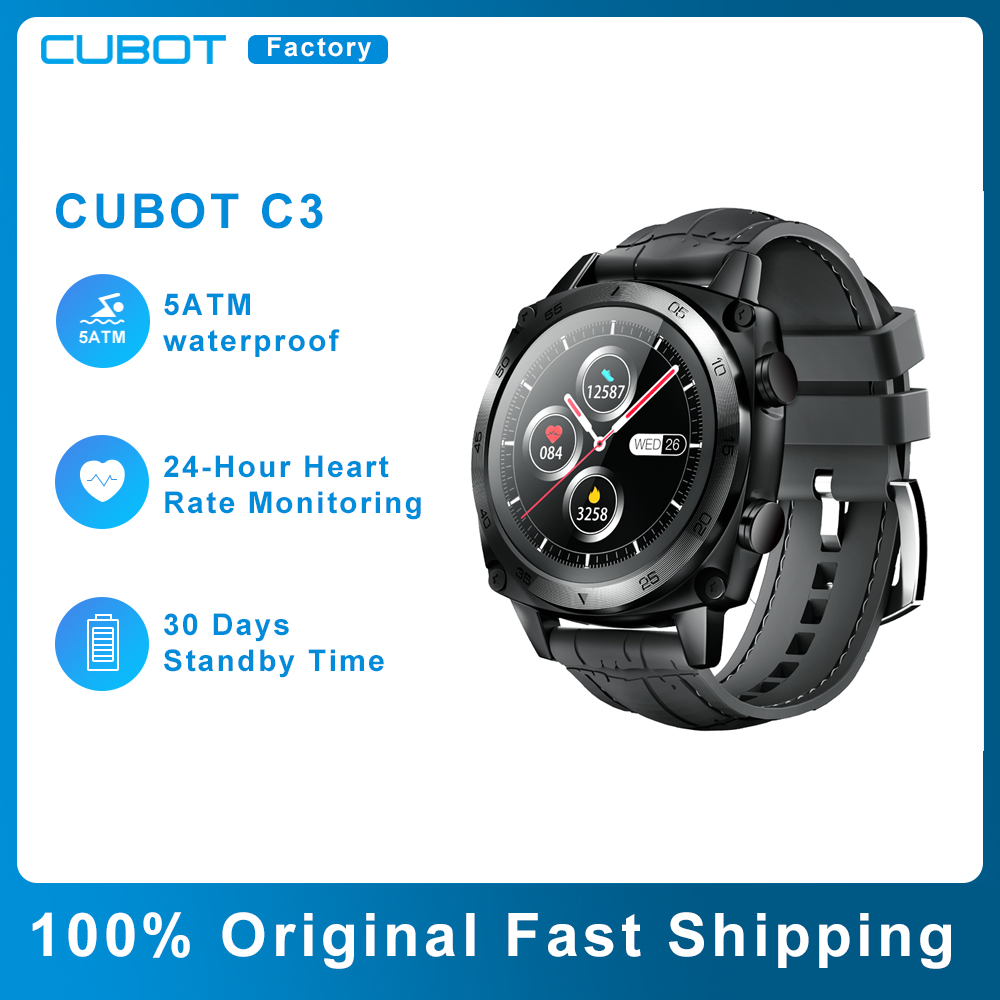 Permalink to Cubot C3 Smart Watch Men Sports Clock Heart Rate Monitor Fitness Tracker 5ATM Waterproof Smartwatch for Android iOS Phone