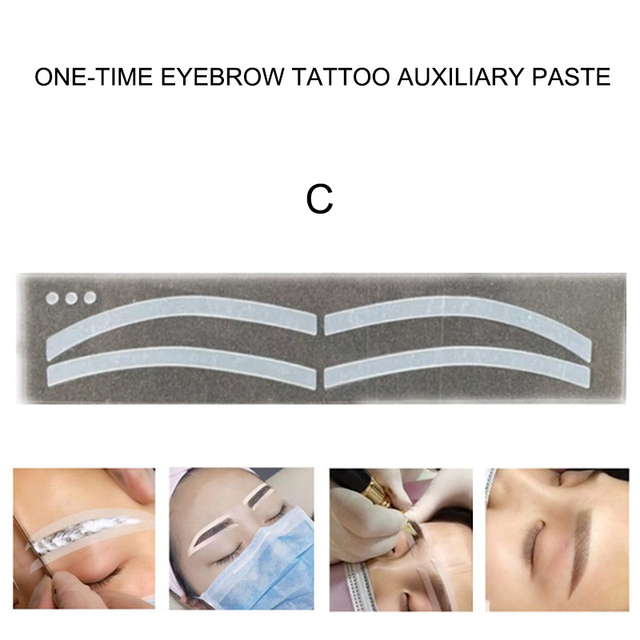 6 Pair Disposable Eyebrow Tattoo Shaping Auxiliary Sticker Templates Eyebrow Stencil Women Makeup Tool Eyebrow Stencils 2