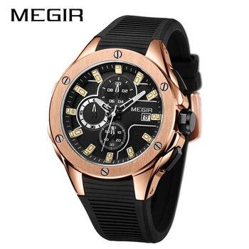 Reloj hombre 2019 Megir Top Brand Luxury Mens Watches Waterproof Sport Date Wrist Watch Male Chronograph Casual Quartz Clock