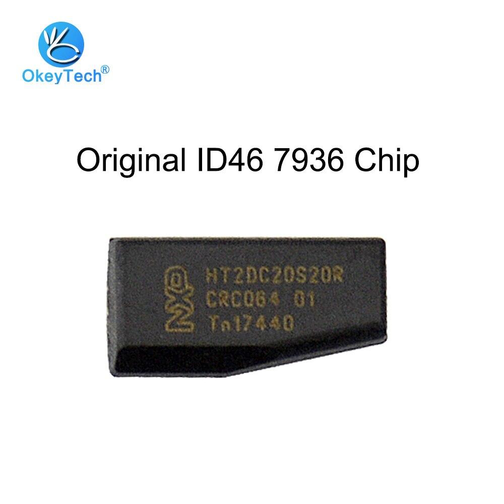 OkeyTech Original ID46 Ceramic Blank Transponder Car Key Chip For Honda Hyundai Kia Mitsubishi Nissan Citroen Peugeot PCF7936