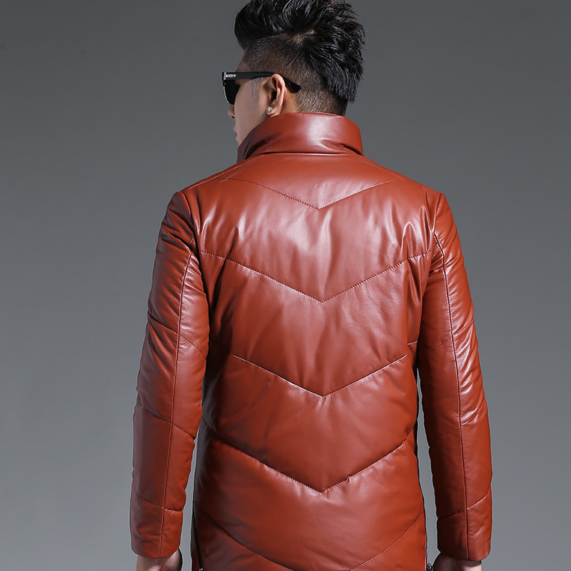 Genuine Leather Jacket Men Down Jacket Autumn Winter Jacket Men Sheepskin Streetwear Coat Chaqueta Hombre K1765 Y1230