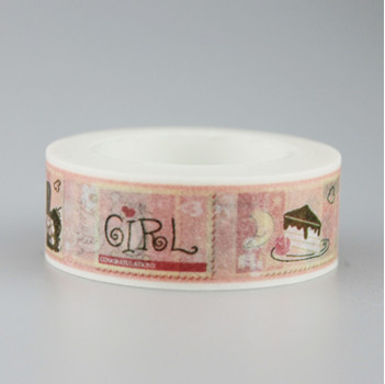 Happy Letter Washi Masking Tape(1piece)