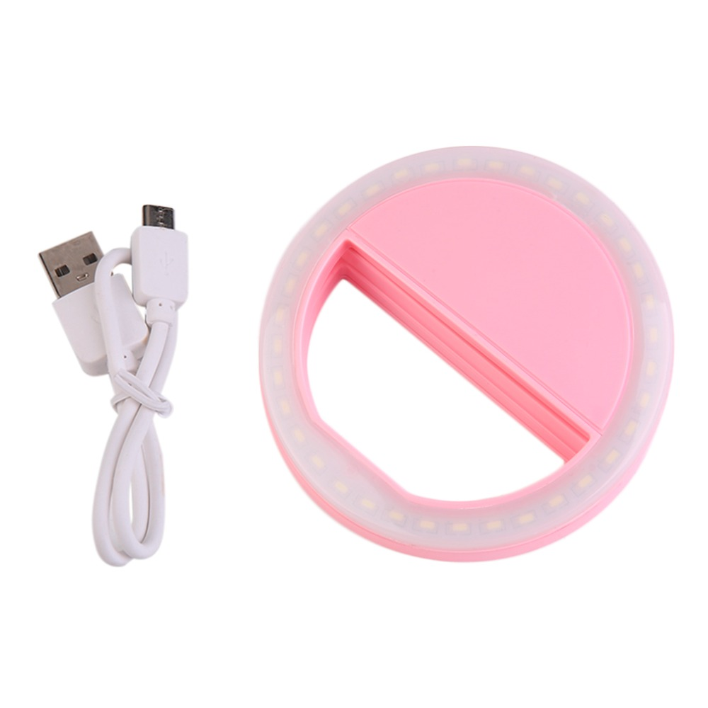 Smart Phone Fill Light Rechargeable Clip On Design Luminous Lamp LED Flash Light Phone Ring For Iphone For Samsung in Mobile Phone Lens from Cellphones Telecommunications